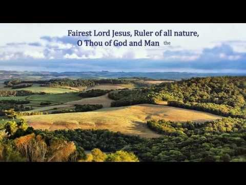 Fairest Lord Jesus (Beautiful Savior) - piano solo with lyrics