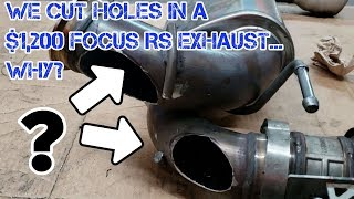 Focus RS exhaust mod/ straight pipe (does it work?) Before/after sound!