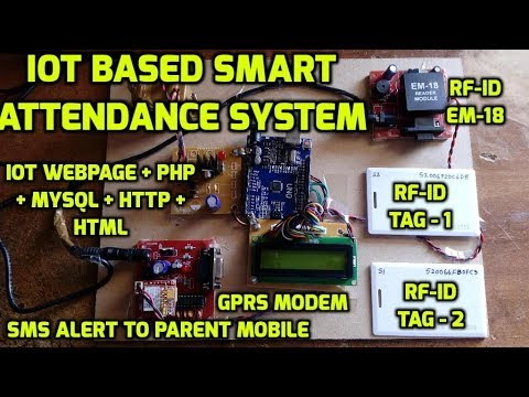 IoT Based Smart Attendance System | Attendance System Based On RFID Project  Using IOT