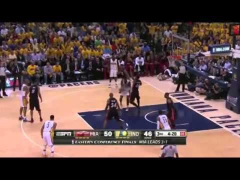 Miami Heat 90 x 93 Indiana Pacers Game 5 Final NBA 2013/2014