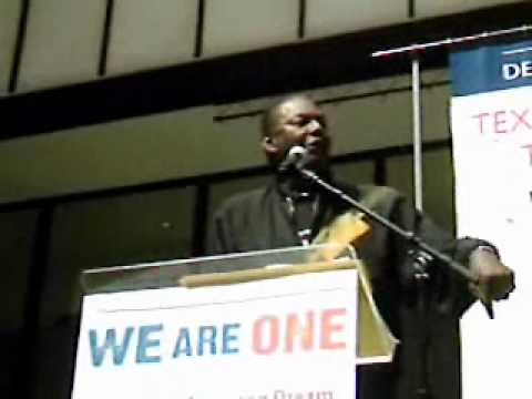 "Bill Lucy at ""We Are One"" rally"