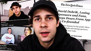 David Dobrik is TRYING to save his career...