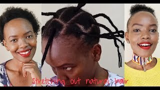STRETCHING NATURAL HAIR | AFRICAN THREADING METHOD (No Heat)