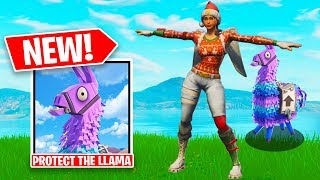 PROTECT THE LLAMA *NEW* Custom Gamemode in Fortnite Battle Royale