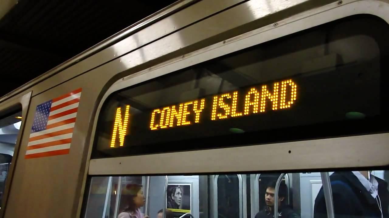 Coney Island Bound R160A/R160B N Train @ 49th Street - YouTube