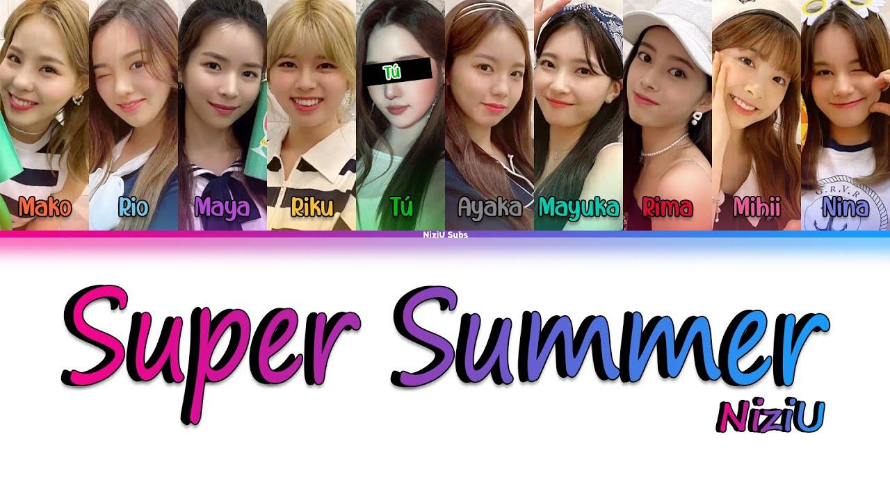 "[Karaove ver.] NiziU ""Super Summer"" [Color Coded_Kan_Rom_Esp] (10 Members)"