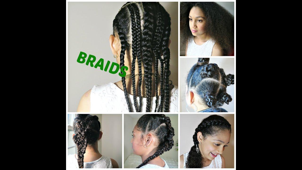 Back to School BRAIDS 5 natural hair styles Kenton & Habiba