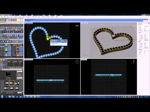 Matrix 3d jewelery basic geam on surface YouTube