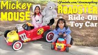 Disney Junior Mickey Mouse Roadster Racers Ride-On Cars! Ride-On Power Wheels Toy Review