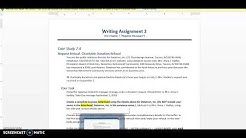 Writing Assignment 2: The Negative Message (Indirect Strategy)_Part 1