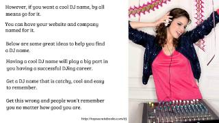 8   Mobile DJ - Should I Use My Real Name? Part 1