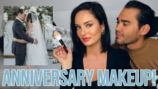 Our 2nd Wedding Anniversary! Makeup, Outfit & Gifts from my Hubby!