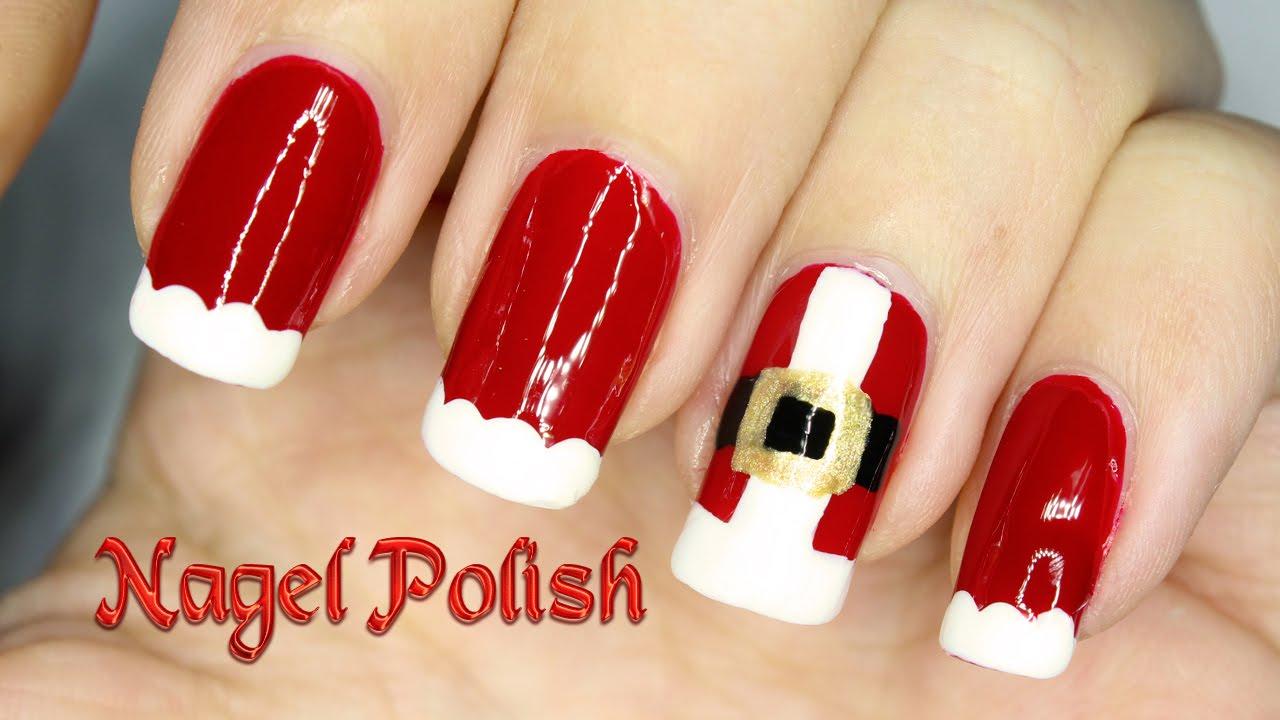Weihnachtsmann Nägel Tutorial | 2.Türchen - YouTube