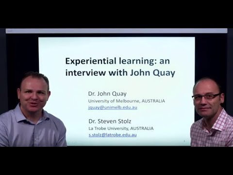 John Quay on experiential learning (full interview)
