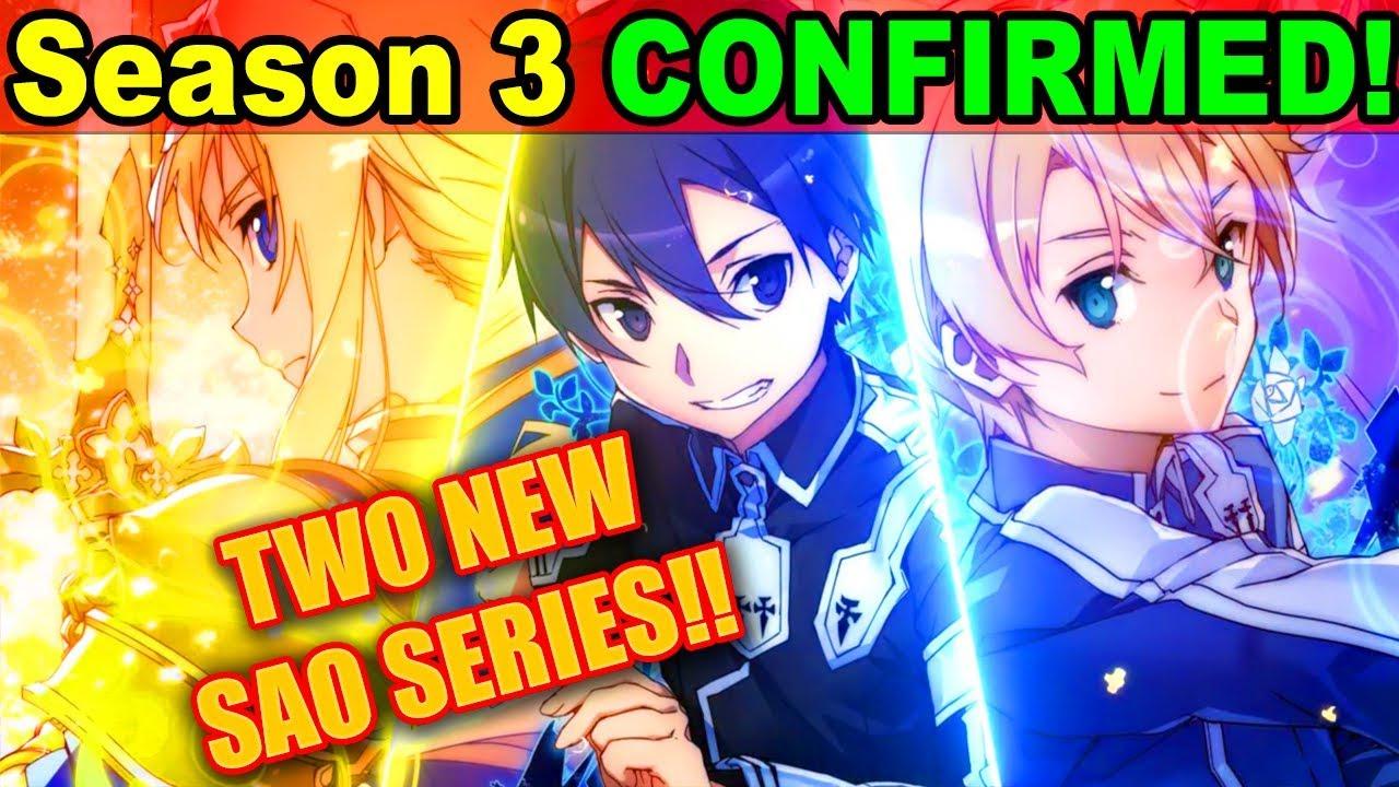 SAO Season 3 CONFIRMED 2 NEW Sword Art Online Anime ANNOUNCED Project Alicization