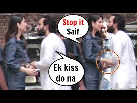 Kareena Kapoor Tries To Stop Saif Ali Khan From Kissing Her In Public Mp3