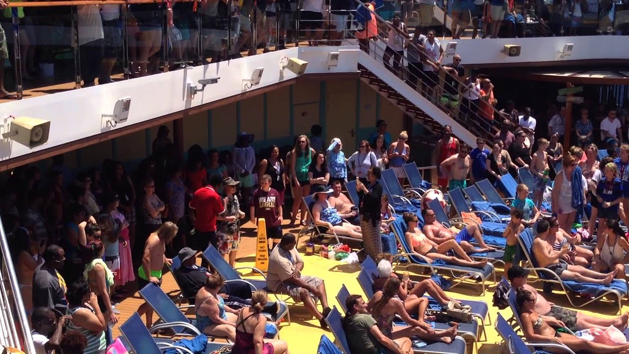 Carnival Breeze 2015 Pool Party With Cruise Director Matt