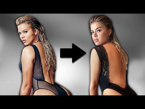 recreating Khloé Kardashian's photos thumbnail