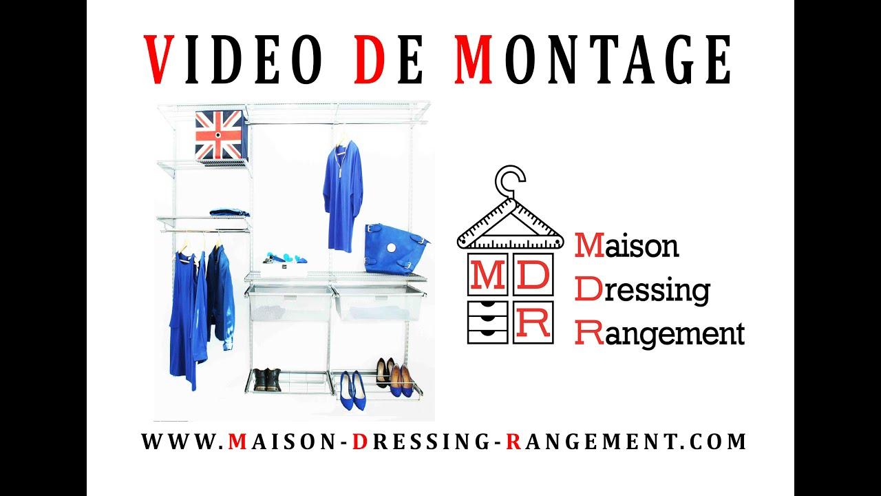 Vid o de montage maison dressing rangement elfa youtube - Maison dressing rangement ...