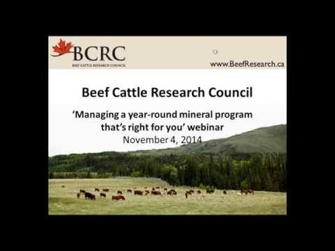 Managing a year round mineral program that's right for you (BCRC webinar)