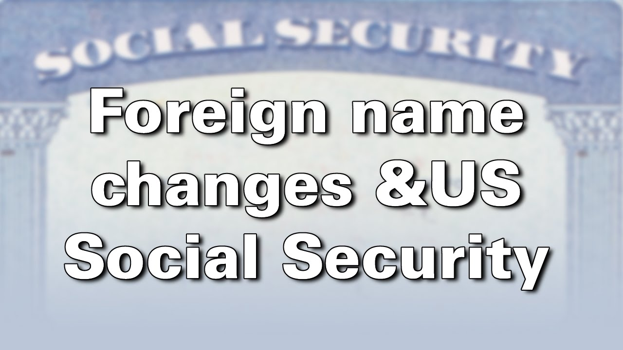 Foreign Name Change For Us Citizens Born Abroad Youtube
