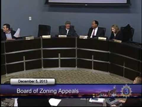 12/05/13 Board of Zoning Appeals Meeting