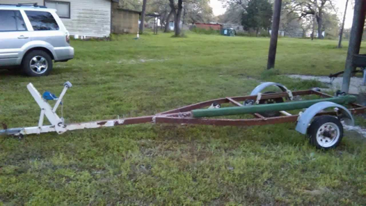 Jon Boat trailer Rebuild PART 1 - YouTube
