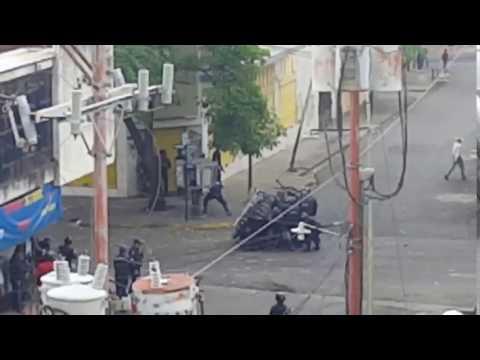 Brutal represión por parte de efectivos de la PNB en Guanare