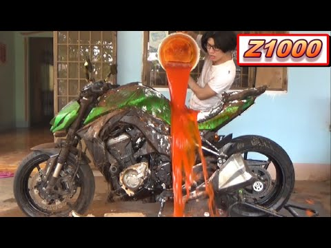 Phim Hài: Rửa Z1000 bằng Tương Ớt 😂 (Wash Z1000 with Chili Sauce 😂)