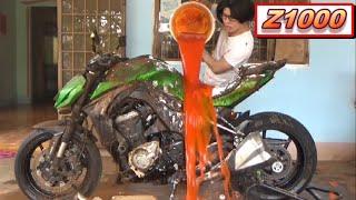 Download Phim Hài: Rửa Z1000 bằng Tương Ớt 😂 (Wash Z1000 with Chili Sauce 😂) Mp3 and Videos