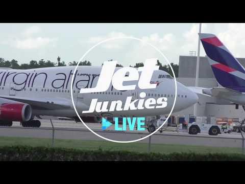 Virgin Atlantic 'Barbarella' 747-443 Orlando - Manchester | Jet Junkies Live