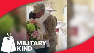 Soldier's mom freaks out when son returns home