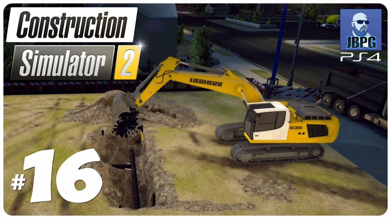 Construction Simulator 2 PS4 - Episode 16: Getting The Crane Up & Running