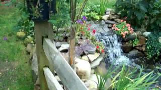 ideas for bulding pond,waterfall,river,perenial garden