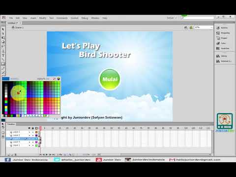Membuat Game Flash Tembak Burung Bird Shooter PART 1 ...