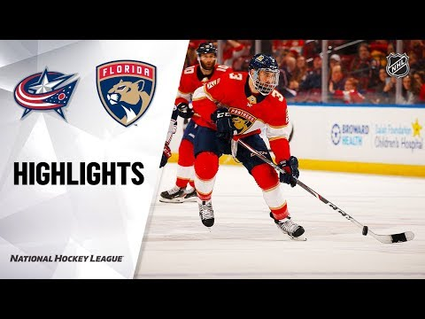 NHL Highlights   Blue Jackets @ Panthers 12/07/19