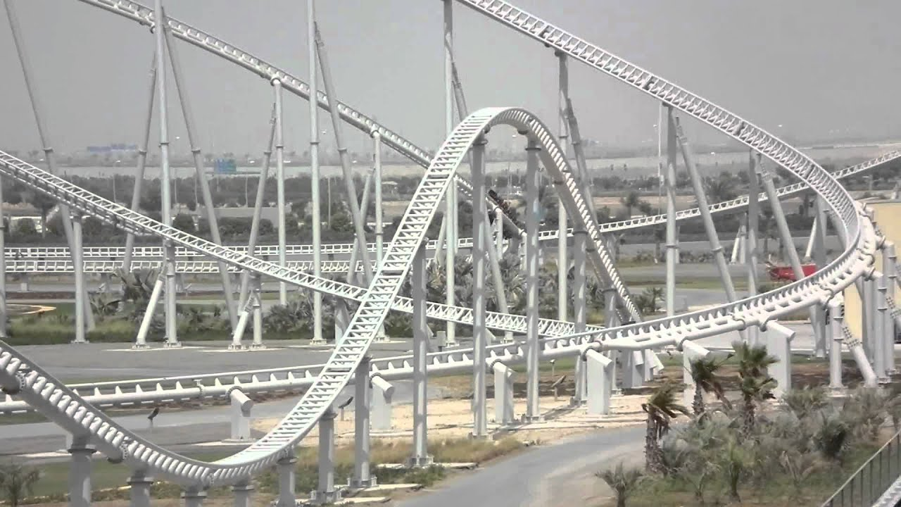 Formula Rossa The World S Fastest Roller Coaster Ferrari World In Abu Dhabi Youtube