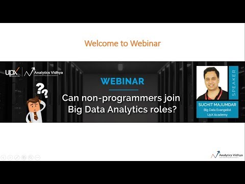 Webinar on Can non programmers join Big Data and Data Science roles?