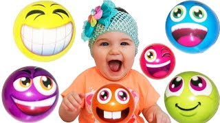 Learn colors with balls smiles 😀 Baby Diana play with toys