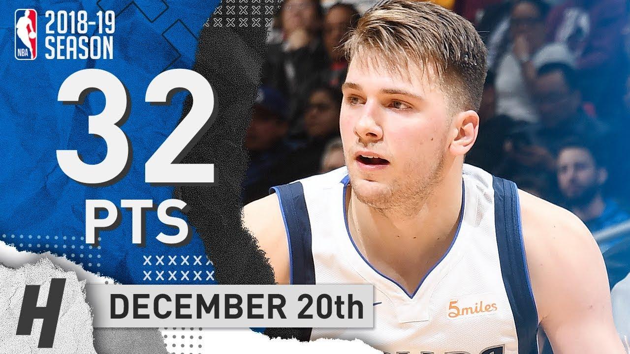 565adb97fcf Luka Doncic Full CAREER-HIGH Highlights Mavericks vs Clippers 2018.12.20 -  32 Points!