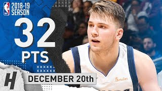 Luka Doncic Full CAREER-HIGH Highlights Mavericks vs Clippers 2018.12.20 - 32 Points!