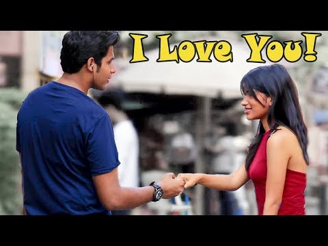 "Epic ""I LOVE YOU!"" Prank On Cute Girls 
