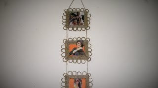 DIY (Hanging Photo Frame / Gift Idea) Made With Paper and Jute Rope