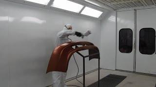 Окраска нового бампера материалами Reoflex (мокрый по мокрому)