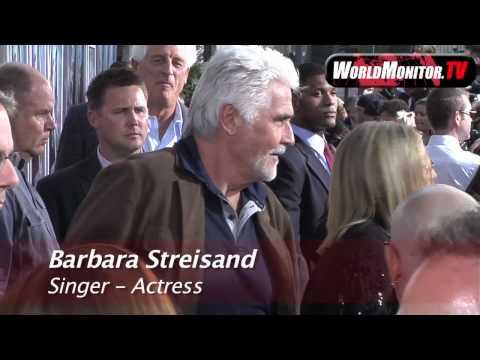Barbra Streisand and James Brolin arriving at