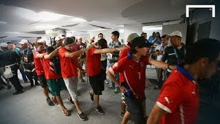 Chile fans storm into the Maracana