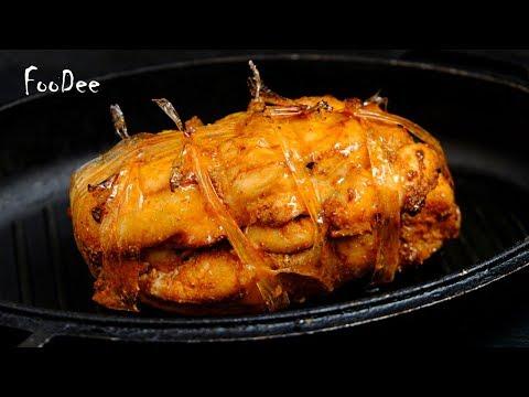 Вместо колбасы на бутерброды! Очень вкусная холодная закуска из куриного филе
