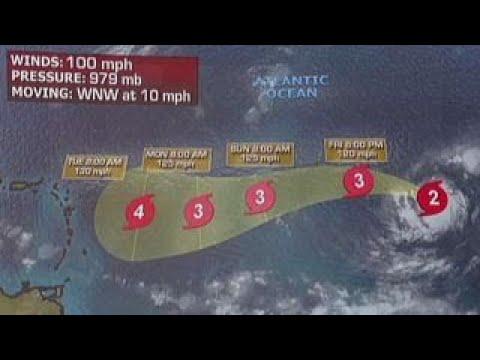 Hurricane Irma intensifies over the Atlantic