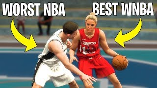 Can The Best WNBA Player Beat The Worst NBA Player In A 1v1? | NBA 2K20