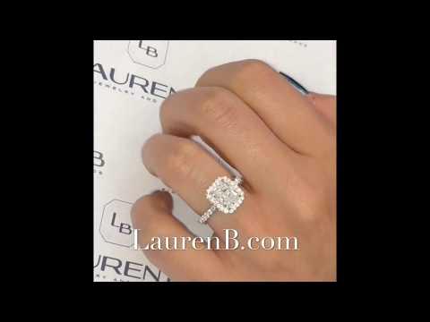 2.07 ct Radiant Cut Diamond Engagement Ring